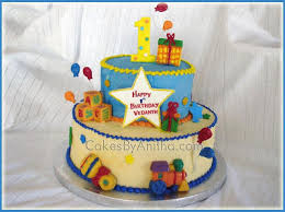 Cakes By Anitha Colorful Babys First Birthday Cake