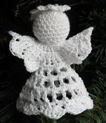 Crochet Angel Christmas Ornament Post 1-4 Handmade by 1733 Shoppe
