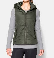 under armour vest. women\u0027s ua quilted puffer vest, downtown green under armour vest