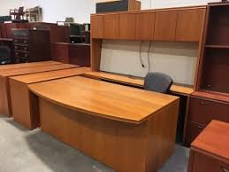 high office furniture atlanta. interesting high light cherry veneer bowfront udesk and credenza with hutch with high office furniture atlanta