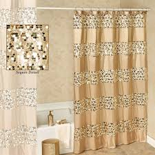 Prestigue Champagne Gold Sequined Shower Curtain