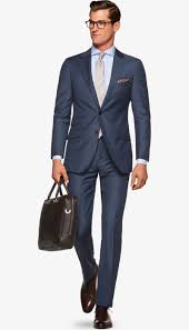 Suit Mid Blue Birds Eye Sienna P3459 Suitsupply Online Store