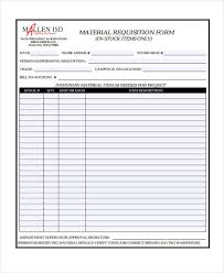 Free 39 Sample Requisition Forms In Xls Pdf