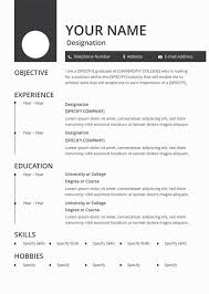 Free Blank Resume Templates Download Enchanting Blank Resume Template 40 Free PSD Vector EPS AI Format