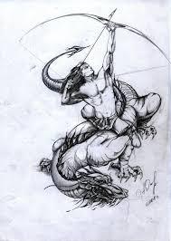 Dragon Vs Sagitarius Google Search кентавр татуировки стрельца