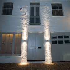 front door lightPillar Light wall mounted garden lights by front door  You