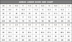 Junior Footwear Size Chart 35 Veritable Adidas Junior Size Chart