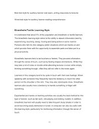 understanding learning styles  11 best test style