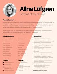 Resume Samples For Interior Designers Gallery Of Resume Work Sample