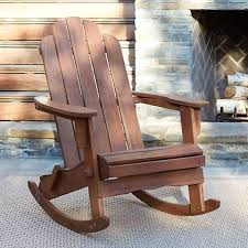Chandler Dark Natural Adirondack Rocking Chair 1W180 Lamps Plus