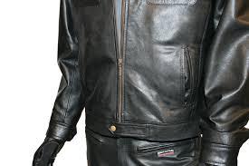 mens leather jacket with fleece hood