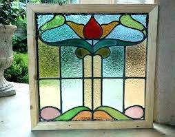 stained glass frame for stained glass panel framed window panels wood antique leaded x arts crafts