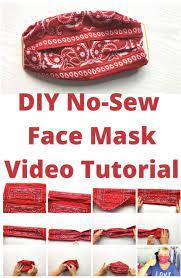 easy no sew diy face mask with bandana