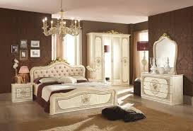 Schlafzimmer Alice 6 Teilig In Schwarz Gold Barock Ohne Polsterung
