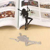 <b>DUOFEN METAL CUTTING DIES</b> pole dancing girl embossing ...