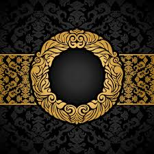 Black vintage frame design Kerawang Luxury Black And Gold Vintage Frame Vector Freedesignfile Luxury Black And Gold Vintage Frame Vector Free Download