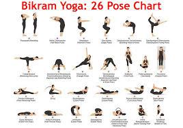 Basic Yoga Poses Chart Bikram Yoga Poses For Beginners Printable