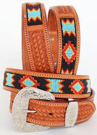 challenger 53 54 men s women handmade beaded basket weave tooled leather belt 26rt01 com