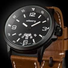 hot men watch infantry mens quartz wrist watch sport army date day analog leather waterproof