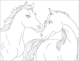 Horse Coloring Pages At Nicoles Coloring Pages