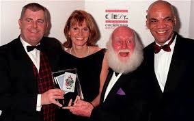buster merryfield uncle albert and gwyneth strong centre help pick up a