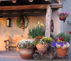 spanish garden pots lawn garden decoration idea for spanish garden with clay tiles