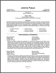 Physical Therapy Resume Beauteous Federal Physical Therapist Resume Sample The Resume Clinic