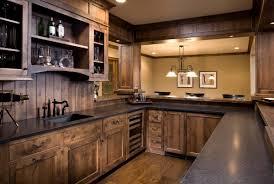 wood kitchen backsplash