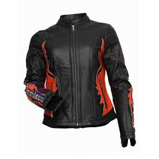 revo harley davidson women rider leather jacket