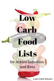 Low Carb Food List Induction Keto Low Carb Maven