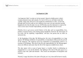 an inspector calls a level english marked by teachers com document image preview