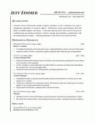 Customer Service Resume Example Business Assistant Host Within