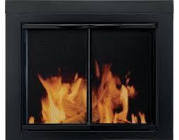 pleasant hearth alpine fireplace glass door
