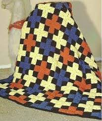 98 best Crochet Quilts images on Pinterest | Knit blankets ... & Criss Cross Quilt Afghan Free crochet quilt design which is made up of  small granny square blocks Adamdwight.com