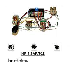 hr 3 3ap 918 bartolini pickups and electronics Fender Pickup Wiring Diagram Single Pickup Bass Wiring Diagram #37