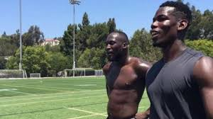 Image result for Lukaku trains with Pogba ahead of £75m Manchester United move [PHOTOS]