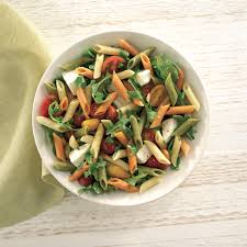 penne pasta recipe from our friend at barilla with fresh arugula cherry tomatoeozzarella it s a crowd pleaser we reach for again and again