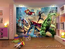 Marvel Bedroom Avengers Street Rage Marvel Photo Wallpaper Wall Mural Kids