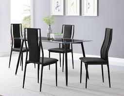 Uberraschend Rectangular Glass Dining Table For Plastic Set