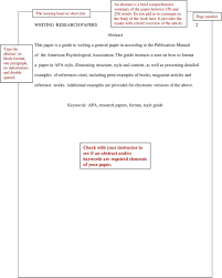 Running Head Writing Research Papers 1 A Guide For Apa How To Format