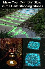 glow in the dark stepping stones light up your garden pathway by making glow in the dark stepping stones