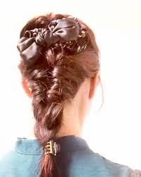 シュシュで可愛いまとめ髪アレンジ22選ハーフアップお団子簡単ヘア