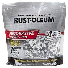 Rust-Oleum Epoxyshield Glacier Gray Paint Color Flakes