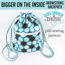 Drawstring Backpack Pattern Beauteous Bigger On The Inside Drawstring Backpack Dog Under My Desk