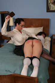 Spanked man mini skirt wife