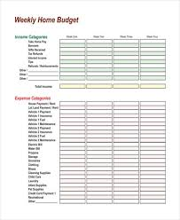 Child Care Budget Template Free Budget Forms