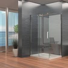 frameless single sliding shower door