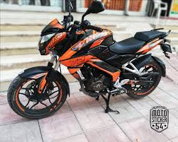 Pulsar Sticker Design Bajaj Pulsar Ns200 Special Design Orange Sticker Kit
