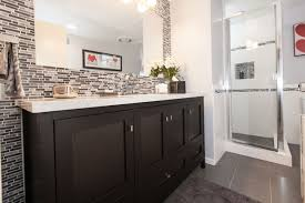 modern bathroom remodels. Gray \u0026 White Tile Modern Bathroom Design Modern-bathroom Remodels