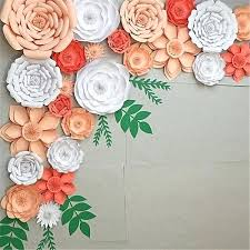 Paper Flower Wedding Backdrops Flower Backdrop Wedding Generic Paper Flower Backdrop Wall